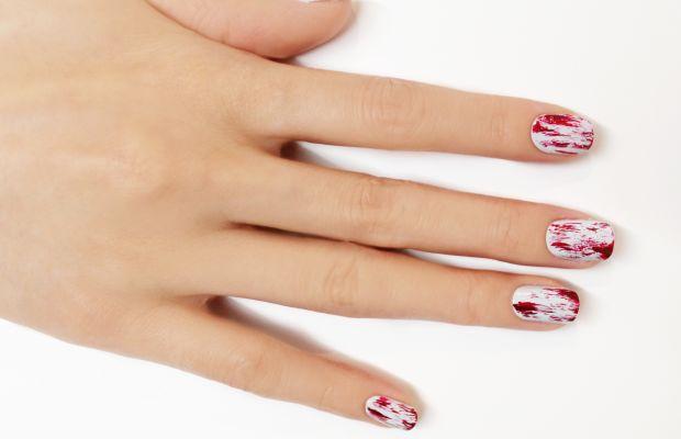 Bloody nail art step 3