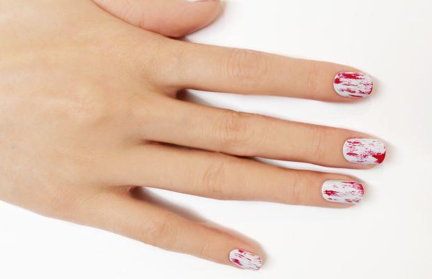 Bloody nail art step 2