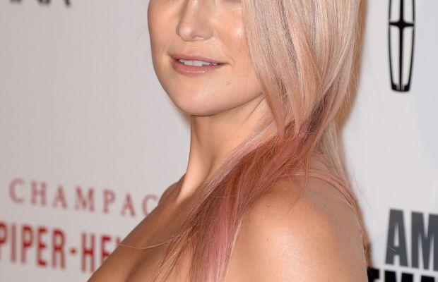 Kate Hudson pink hair, American Cinematheque Awards, 2014
