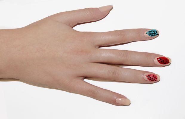 Leaf nail art tutorial - step 4