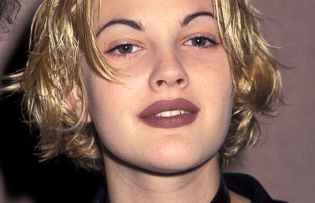 Drew Barrymore 90s lipstick