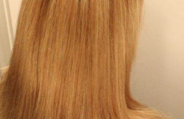 Damaged hair after