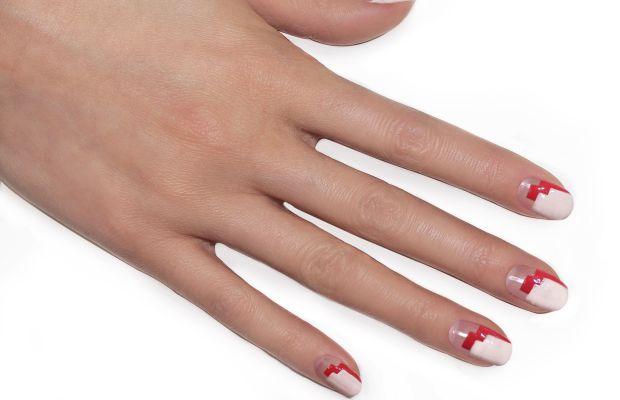 Heart nail art tutorial (step 3)