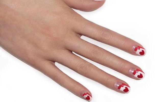 Heart nail art tutorial (step 4)