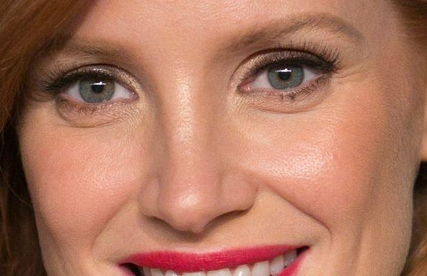 Jessica Chastain, Vanity Fair Oscar party, 2015