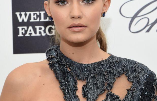 Gigi Hadid, Elton John AIDS Foundation Academy Awards viewing party, 2015
