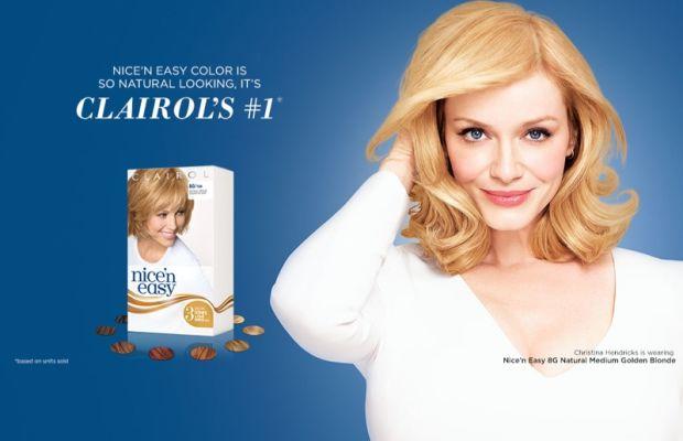 Christina Hendricks blonde hair for Clairol