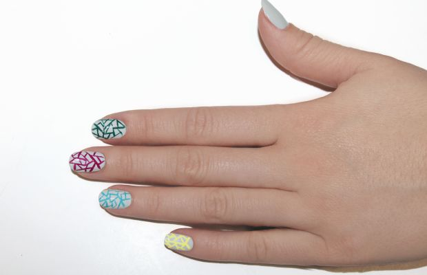 Eggshell nail art step 6