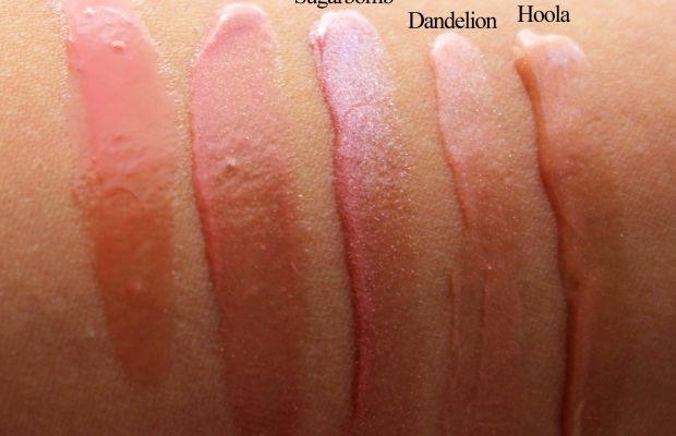 Benefit Ultra Plush Lip Gloss swatches