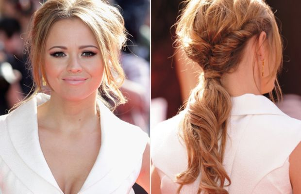 Kimberley-Walsh-twisted-ponytail
