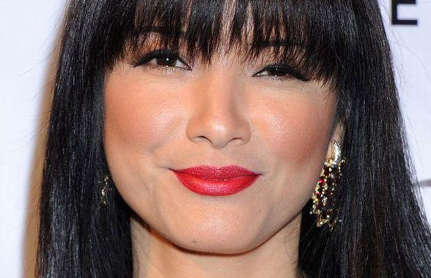 Kelly Hu heart face bangs