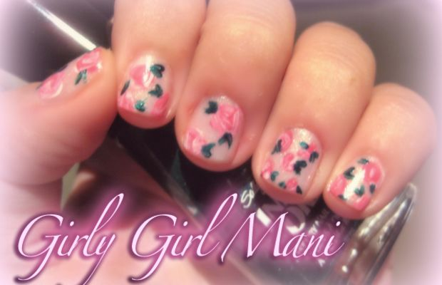 Girly girl mani
