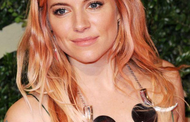 Sienna Miller pink hair, British Fashion Awards, 2013