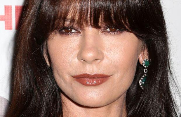 Catherine Zeta-Jones round face bangs