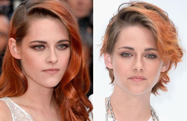 Kristen Stewart haircut 2014 before and after