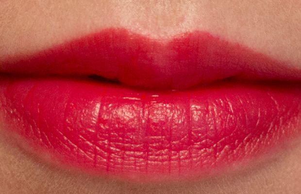 Joe Fresh Long Wear Liquid Lipstick in Rouge (swatch blotted)