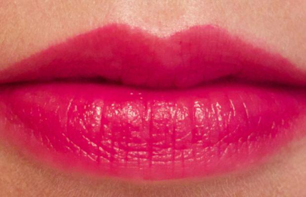Joe Fresh Long Wear Liquid Lipstick in Fuchsia (swatch blotted)