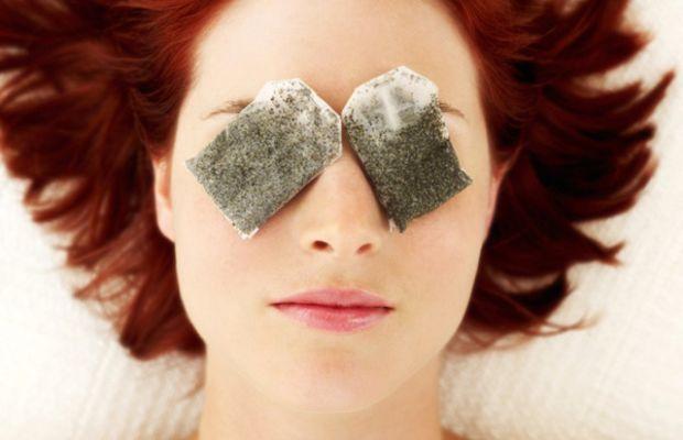 Puffy eyes wet tea bags