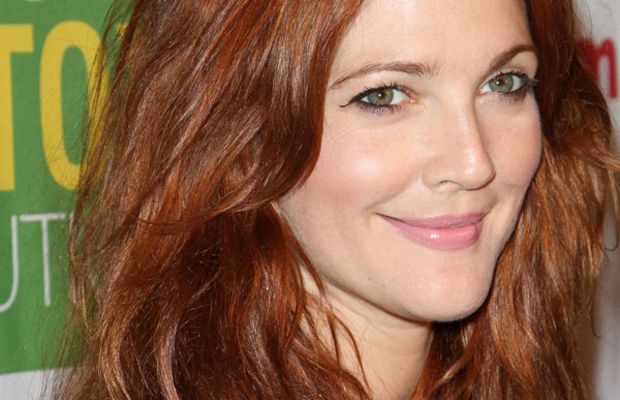 Drew-Barrymore-red-hair-Beauty-Detox-event