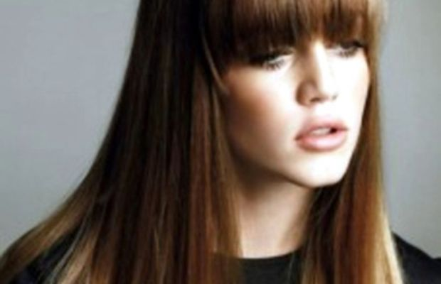 ombre hair straight with bangs