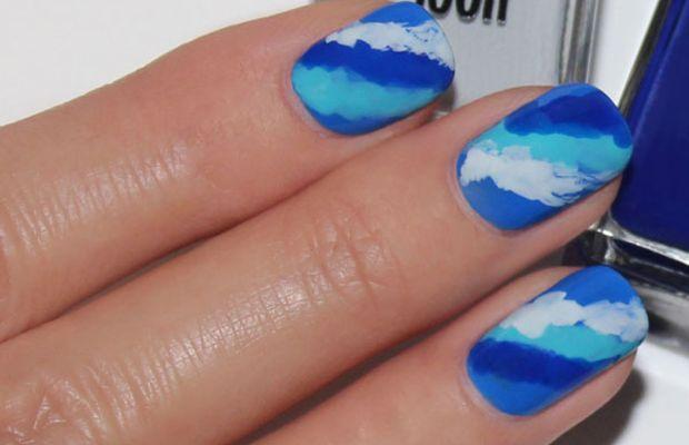 Wave nail art tutorial (2)