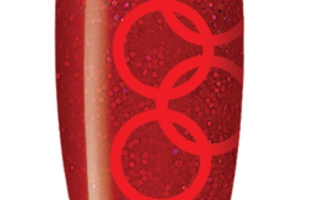 CND Shellac Olympic Gold nail art