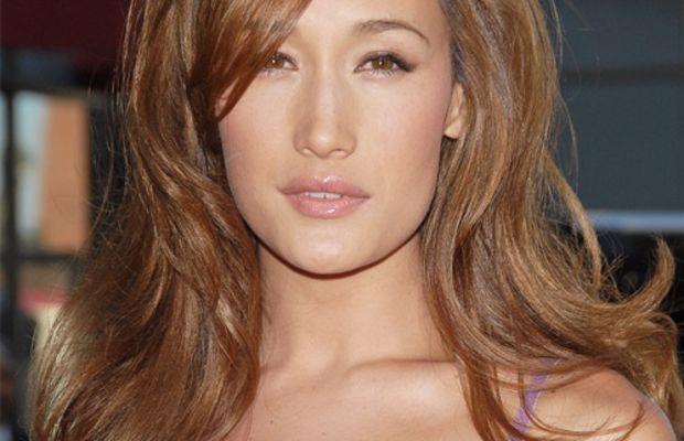 Maggie Q's light brown hair colour.