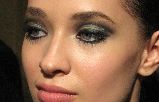 Green smoky eyes tutorial 1