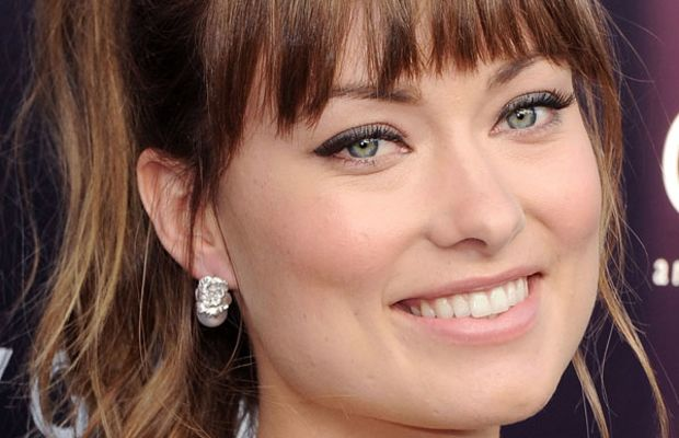 Olivia Wilde square face bangs