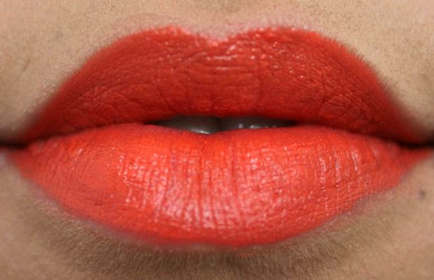 MAC Lipstick in Morange (2)