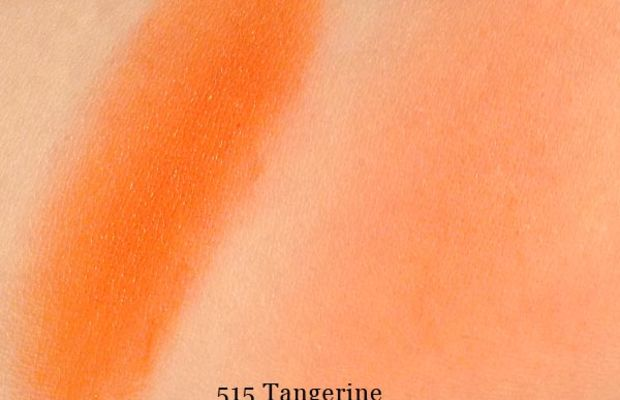 Make Up For Ever HD Blush in 515 Tangerine (swatched)