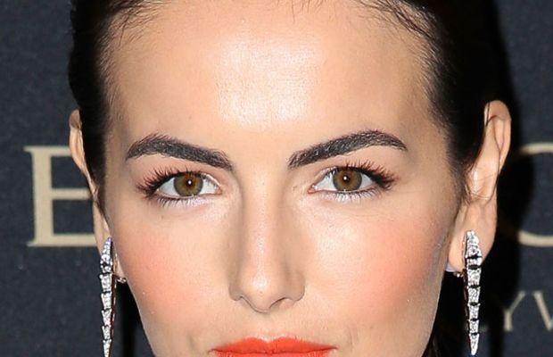 Camilla Belle orange lipstick