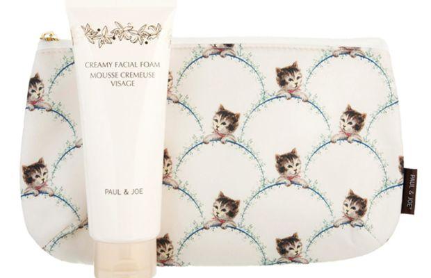 Paul & Joe ASOS Exclusive Creamy Facial Cleansing Foam & Cat Makeup Bag