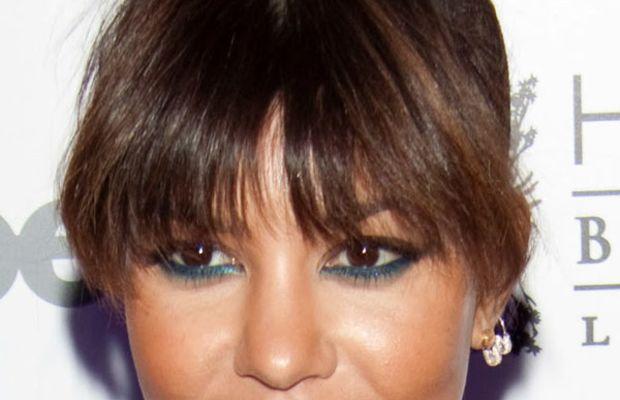 Kourtney Kardashian heart face bangs