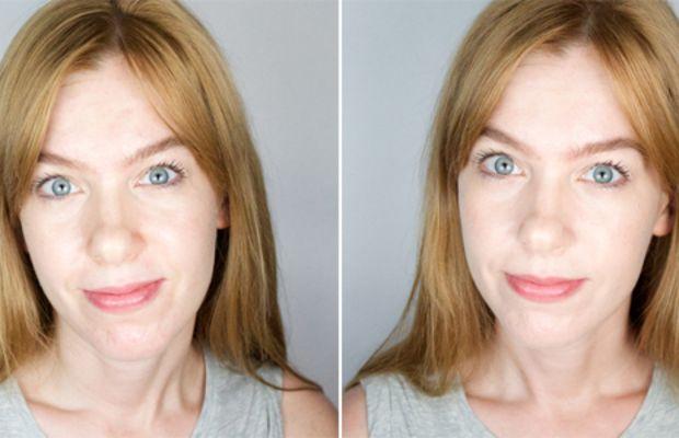 Holika Holika Aqua Petit Jelly BB Cream (before and after)