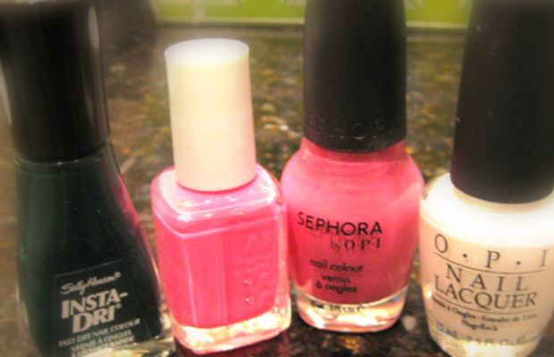 Girly girl mani - nail polishes