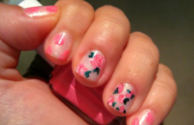 Girly girl mani - step 2