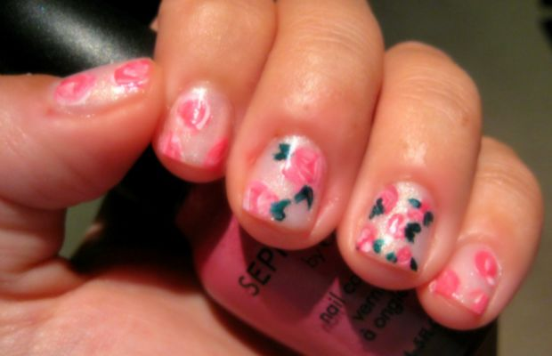 Girly girl mani - step 4