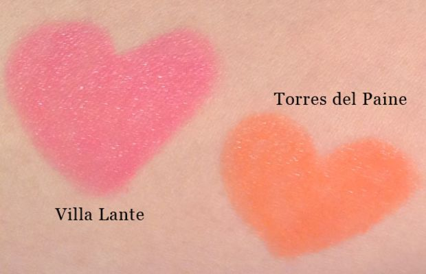 NARS Satin Lip Pencils in Villa Lante and Torres Del Paine (swatched)