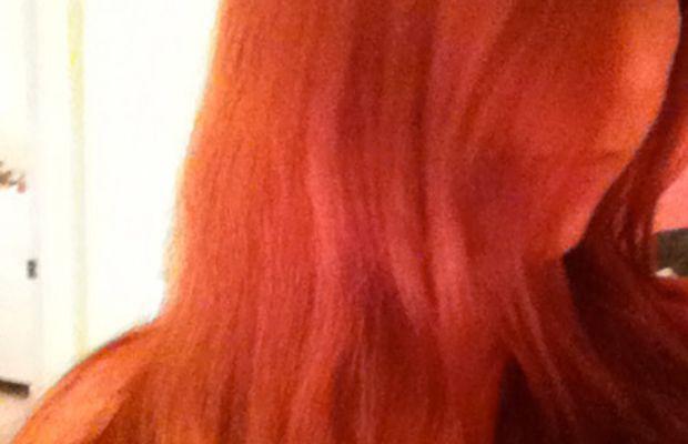 Burgundy hair - before