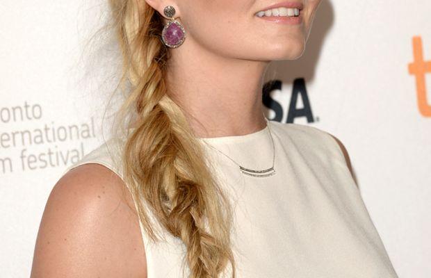 Jennifer Morrison hair - fishtail braid - Gravity premiere, 2013 (side)