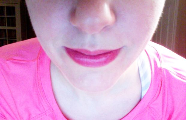 Lips after Dior Lip Glow