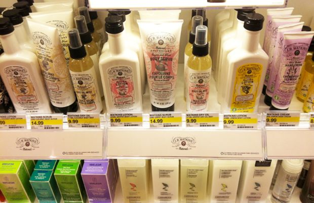 Target Canada launch - green beauty section