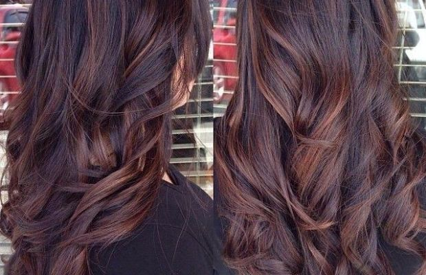 Subtle highlights in brown hair