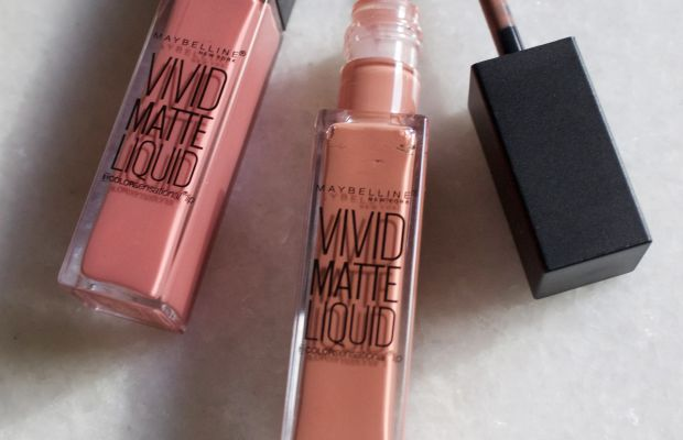 Maybelline Vivid Matte Liquid Lip Color in Nude Thrill and Nude Flush