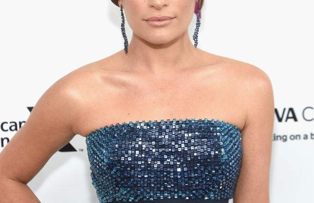 Lea Michele, Elton John AIDS Foundation Academy Awards viewing party, 2016