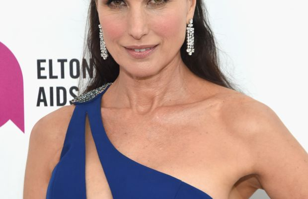 Andie MacDowell, Elton John AIDS Foundation Academy Awards viewing party, 2016