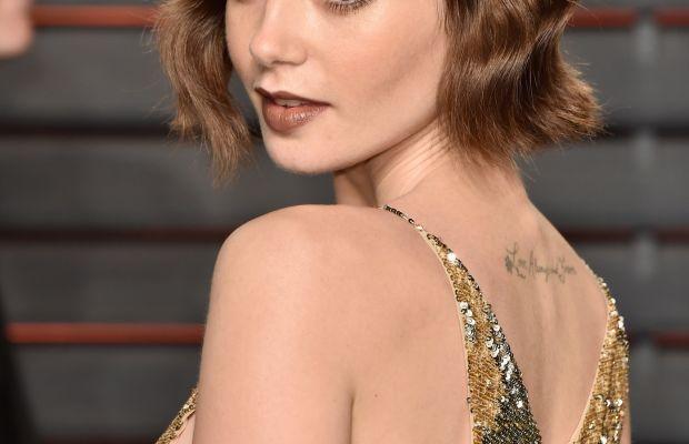 Lily Collins, Vanity Fair Oscar party, 2016
