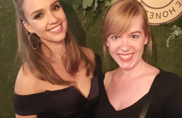 Jessica Alba with Beauty Editor