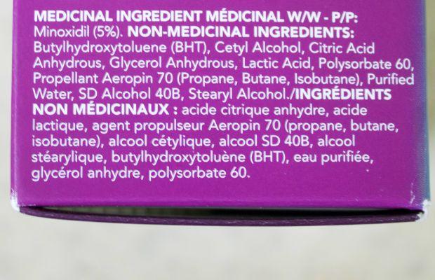 Rogaine for Women (ingredients)